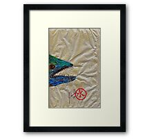 Gyotaku - Spanish Mackerel Head Framed Print