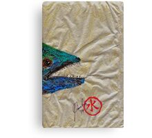 Gyotaku - Spanish Mackerel Head Canvas Print