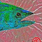 Gyotaku- Spanish Mackerel- Bubble Gum Pink by IslandFishPrint