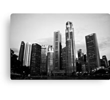 Urban Landscape Singapore Canvas Print