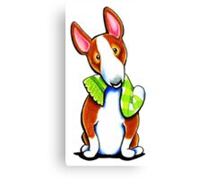 Red Bull Terrier Lets Play Canvas Print