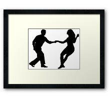 Swing dance Framed Print
