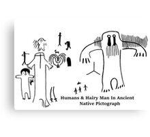 Human & Hairy Man Pictographs Canvas Print