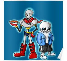 Sans and Papyrus from Undertale Poster