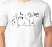 Human & Hairy Man Pictographs Unisex T-Shirt