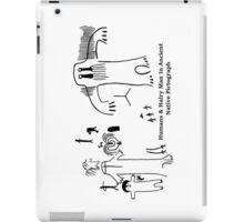 Human & Hairy Man Pictographs iPad Case/Skin