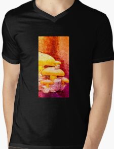 fungus family Mens V-Neck T-Shirt