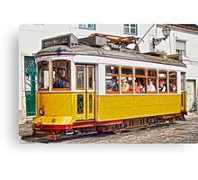 Yellow Electric Trolly of Lisbon Canvas Print