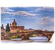 Bridge over the Arno Poster