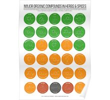 Organic Compounds in Herbs & Spices Poster