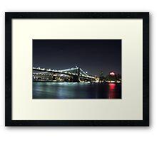 Nighttime Cityscape Framed Print