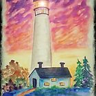 Watercolor - Lighthouse by teresa731