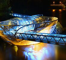 Artificial floating platform in Graz Austria by Robert Boss