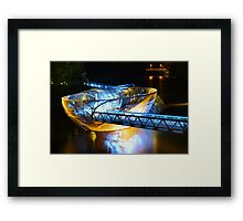 Artificial floating platform in Graz Austria Framed Print