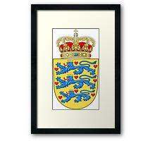 Coat of Arms of Denmark Framed Print