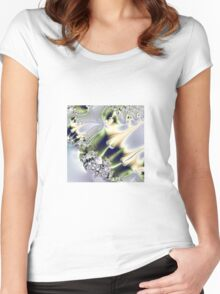 On Gossamer Wings the Faeries Fly Women's Fitted Scoop T-Shirt