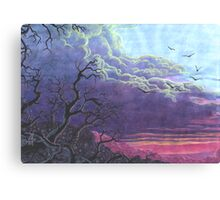 Landscape Purple Blue Sky Canvas Print
