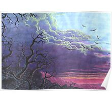 Landscape Purple Blue Sky Poster