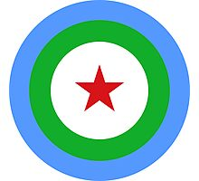 Air Force Roundel of Djibouti  Photographic Print