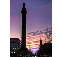 The sun goes down over Edinburgh Photographic Print