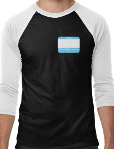 This IS My Real Name (Transmale Blue) Men's Baseball ¾ T-Shirt