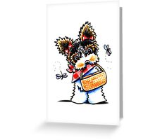 Biewer Yorkie Picnic Time Greeting Card