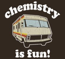 Funny - Chemistry Is Fun! (Br Ba) Distressed Vintage Design by robotface
