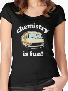 Funny - Chemistry Is Fun! (Br Ba) Distressed Vintage Design Women's Fitted Scoop T-Shirt
