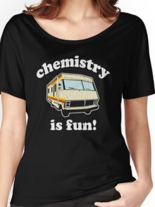 Funny - Chemistry Is Fun! (Br Ba) Distressed Vintage Design Women's Relaxed Fit T-Shirt