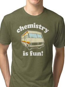 Funny - Chemistry Is Fun! (Br Ba) Distressed Vintage Design Tri-blend T-Shirt