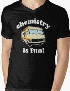 Funny - Chemistry Is Fun! (Br Ba) Distressed Vintage Design Mens V-Neck T-Shirt