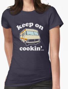 Funny - Keep on Cookin'! (Br Ba) distressed vintage design Womens Fitted T-Shirt