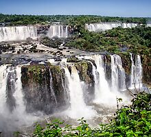 Iquazu Falls - South America by Jon Berghoff