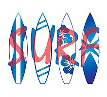 Surf boards Photographic Print