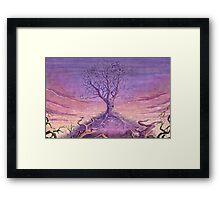 Landscape Lonely Tree Framed Print