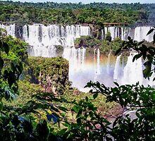 Iquazu Falls - South America by Jon Berghoff