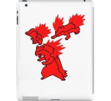Fire Johto Starters Silohouettes iPad Case/Skin