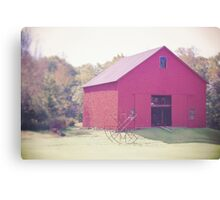 Red New Hampshire Barn Canvas Print