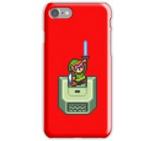 Link holding Master Sword iPhone Case/Skin