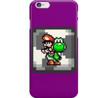 Mario & Yoshi with Egg Block Background iPhone Case/Skin