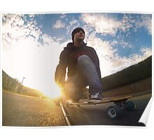 Sunset Longboarding with my GoPro Camera Poster