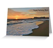 Porthcawl Sunset Birthday Card for Mum Greeting Card