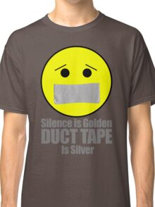 Silence is golden duct tape is silver emoji Classic T-Shirt