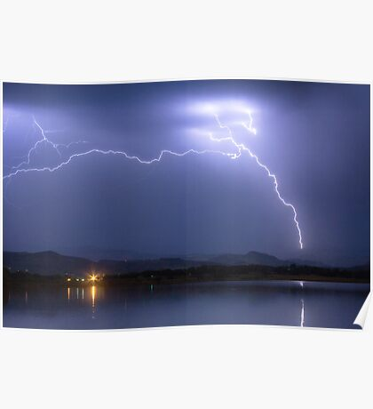 Electrical Arcing Sky Poster