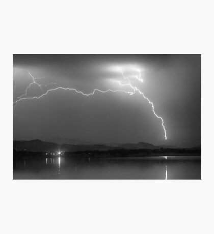 Electrical Arcing Night Sky  Photographic Print