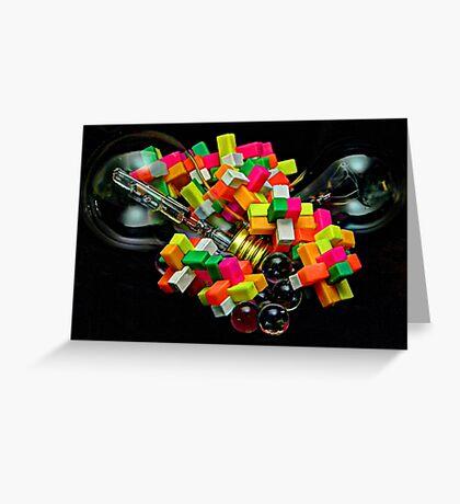 Bulbs and Blocks Greeting Card