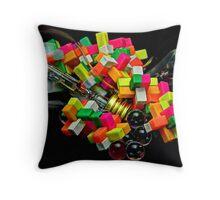 Bulbs and Blocks Throw Pillow