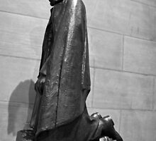 Lincoln Kneeling In Prayer by Cora Wandel