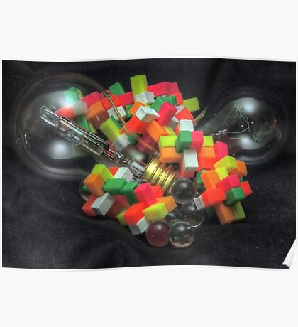 Blocks and Bulbs Poster