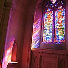 A Streaming Stained Glass Window by Cora Wandel